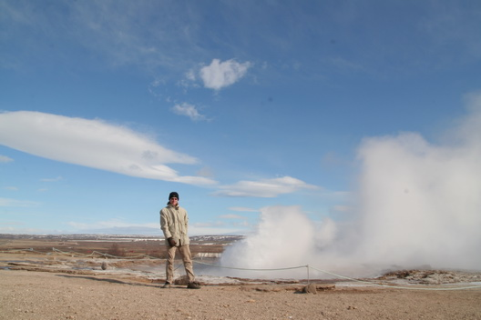 Me and Strokkur - 2008